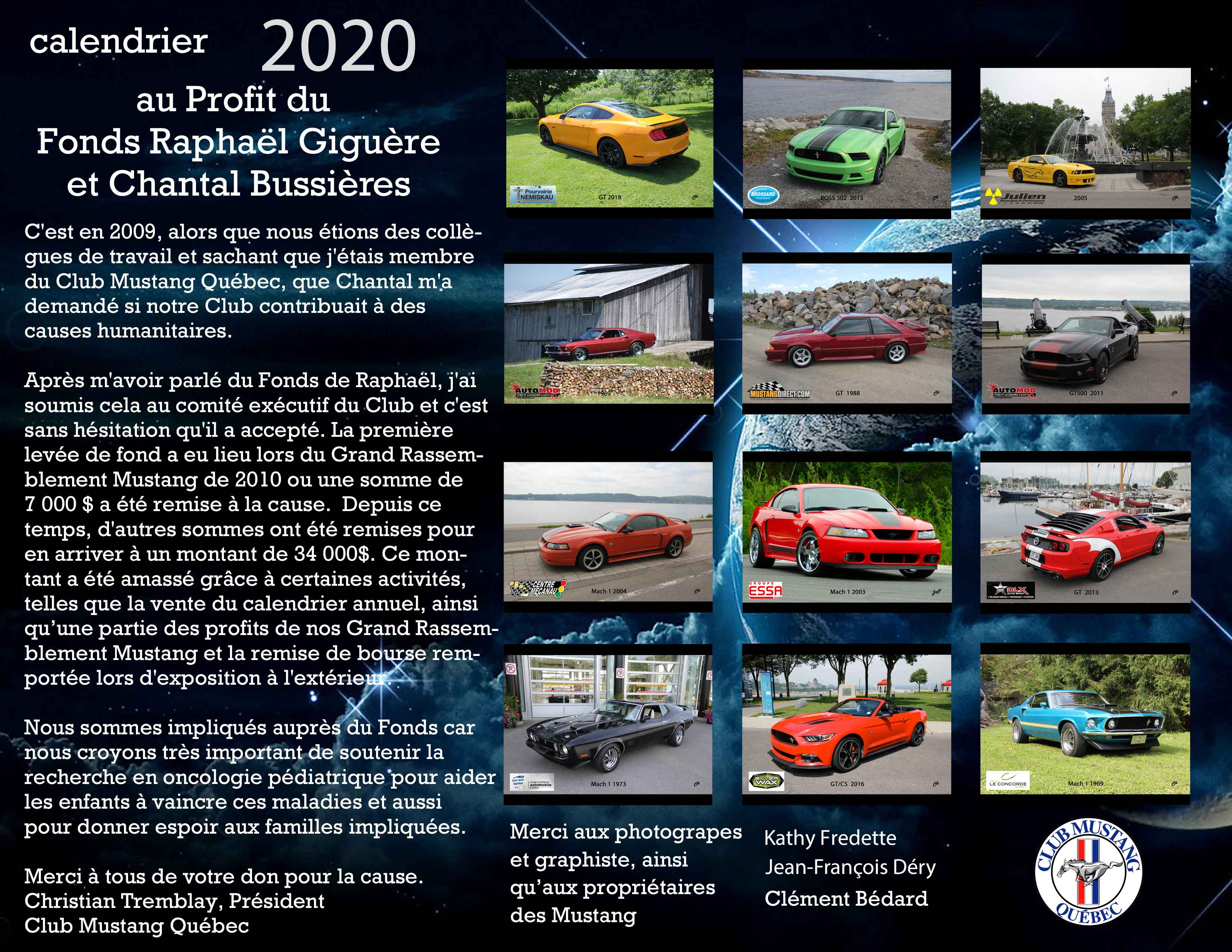 Partager Calendrier Outlook 2020.Calendrier 2020 Club Mustang Quebec